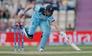 The crucial run-out of Chris Woakes
