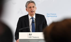 Philip Hammond delivering his speech at HSBC HQ in London.