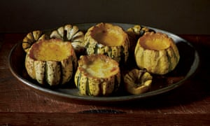Baked squash with celery and herb cream