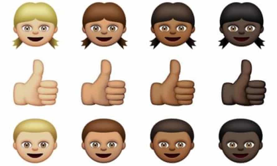 diverse emojis white people
