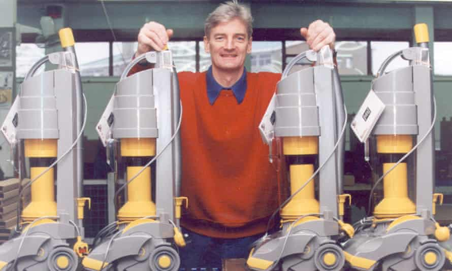 James Dyson with the DC01.