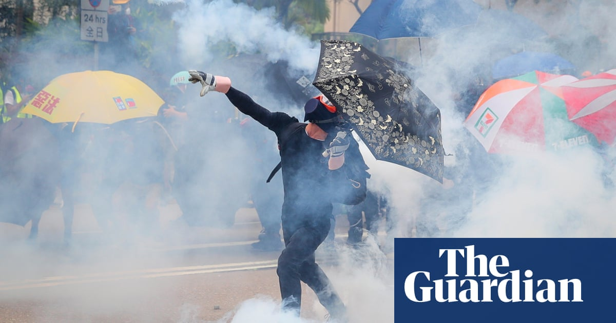 Police fire teargas and pepper spray as Hong Kong protests continue