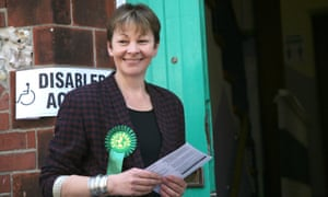 Green party's Caroline Lucas campaigning during the 2015 general election