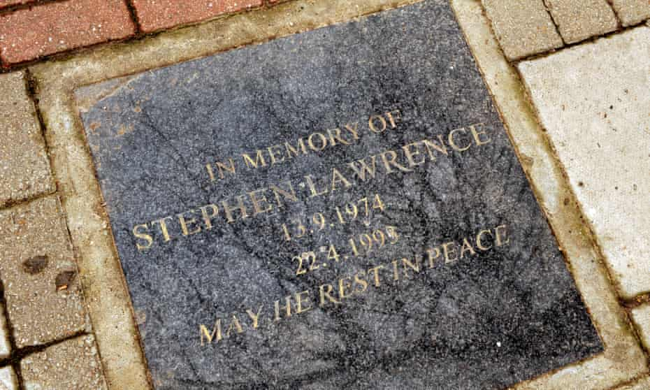 Memorial plaque to Stephen Lawrence
