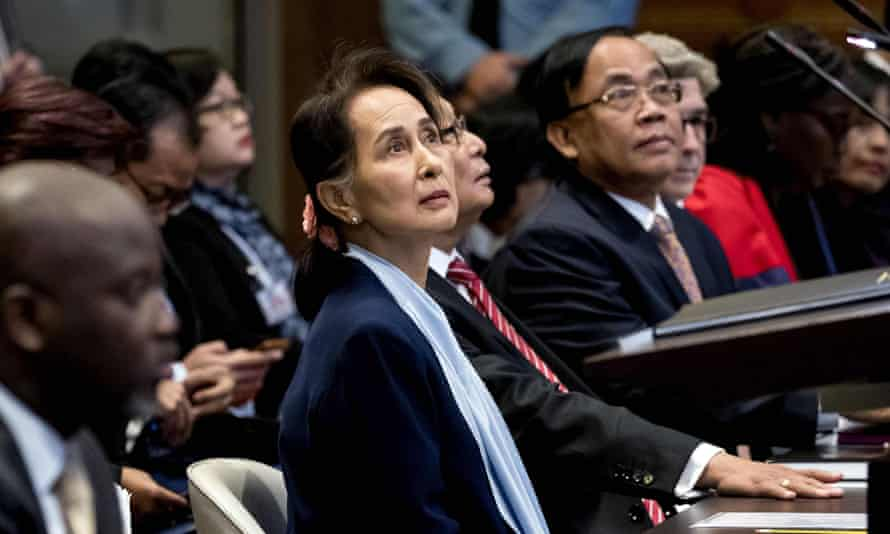 Aung San Suu Kyi at the the UN's International Court of Justice, December 2019/