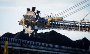 Coal stockpiles at Newcastle