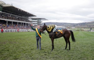 Paul Townend celebrates victory on Al Boum Photo in the Gold Cup