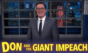 Stephen Colbert: 'There's only one thing Trump cuts a cheque for. Oh my god, did he have sex with Ukraine?'