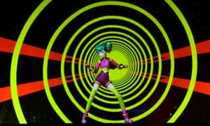 Virtual idolatry … Hatsune Miku at Brixton Academy.