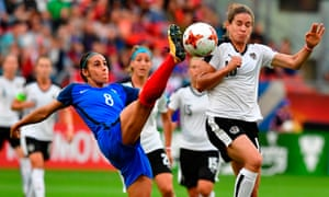 France defender Jessica Houara d'Hommeaux in action against Austria