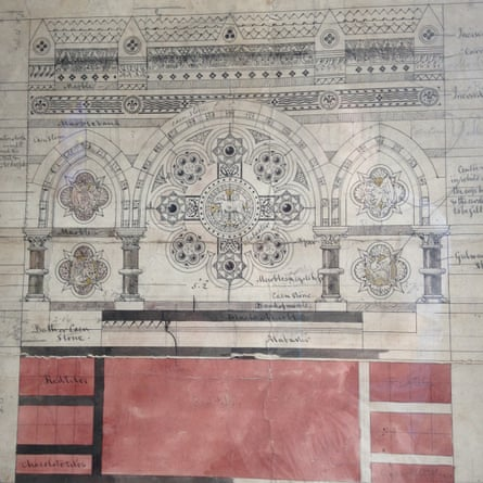 Thomas Hardy's altarpiece design for All Saints church in Windsor.