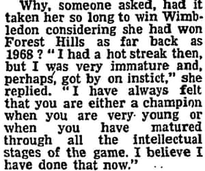 Extract from David Irvine article Miss Wade crowned at last