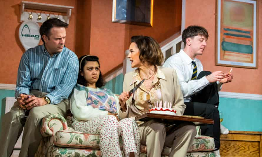 Cut short by coronavirus … Nicholas Burns, Isabella Laughland, Rachel Stirling and Mike Noble in Love, Love, Love at the Lyric Hammersmith, London, in March.