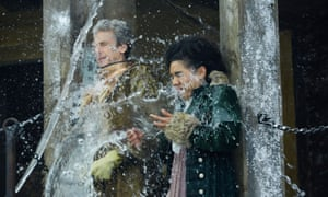 Glastonbury meets Winter Wonderland... The Doctor and Bill get a soaking.