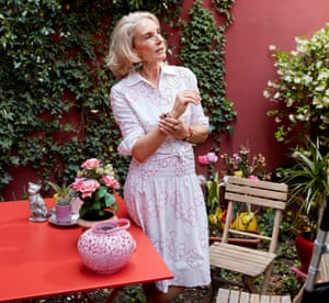 Paolo Franchi in her decorative garden