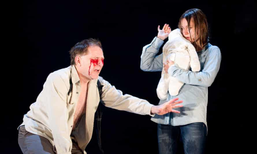 Danny Webb and Lydia Wilson in Sarah Kane's Blasted