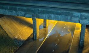 The Eastham Rake motorway bridge, recreated in Dream English Kid, 1964–1999AD.