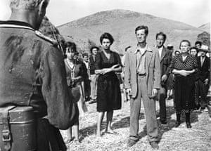 Two Women (La Ciociara), 1960Belmondo with Sophia Loren in the war film directed by Vittorio De Sica.