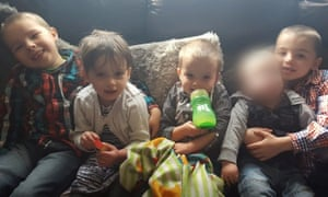 The four children who died in the fire: (left to right) Keegan Unitt (aged six), Tilly Rose Unitt (four), Olly Unitt (three) and their older brother Riley Holt (eight).
