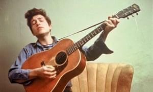 Bob Dylan in New York, 1963.