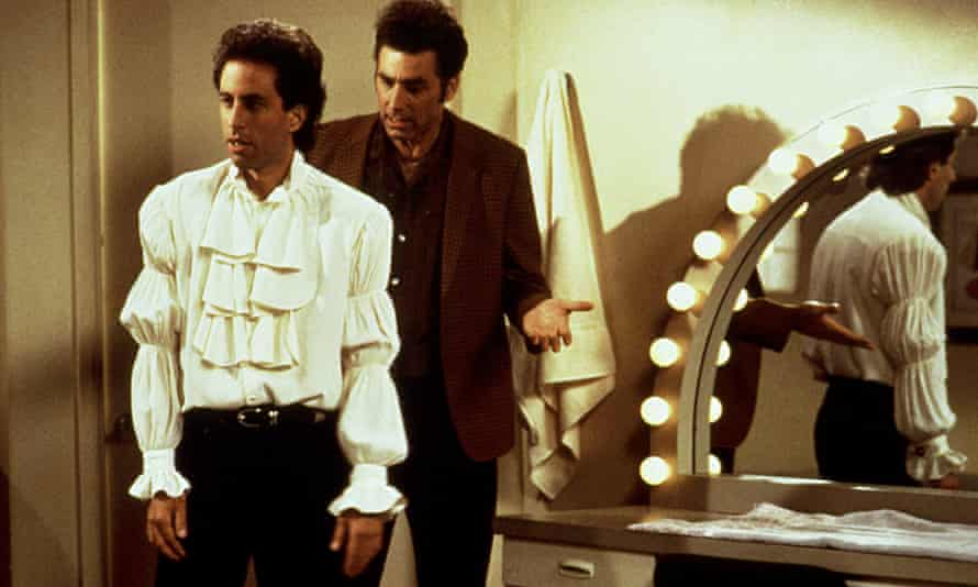 Seinfeld and Richards in The Puffy Shirt.