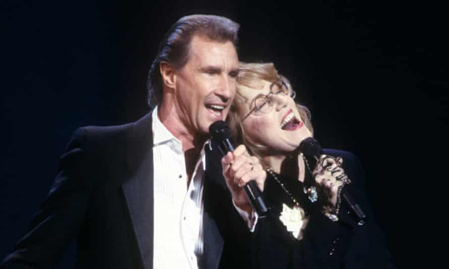 'It split my career down the middle' … Jennifer Warnes and Bill Medley at the 1988 American music awards.