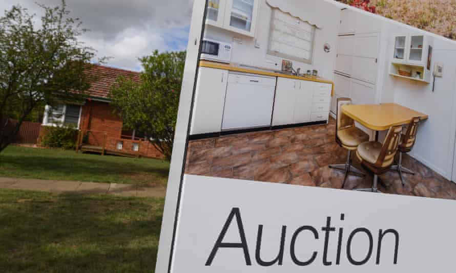 A real estate advertising board in Canberra
