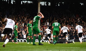 The moment Denis Odoi, centre, grabbed a draw for Fulham at Craven Cottage.