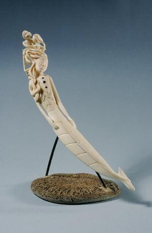 Seeking Her Forgiveness. Ivory statue.