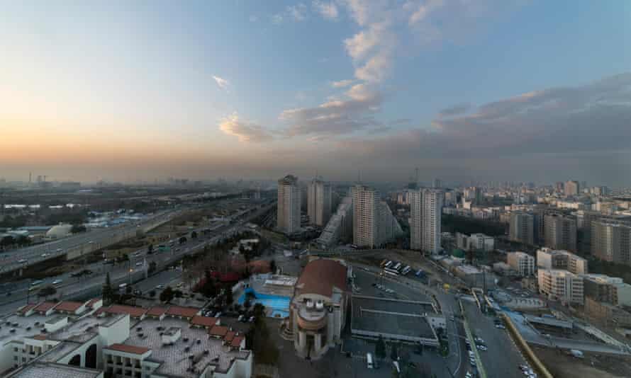 The Iranian capital, Tehran, at sunrise.
