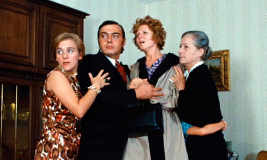 Irm Hermann, second from right, in Fassbinder's The Merchant of the Four Seasons.