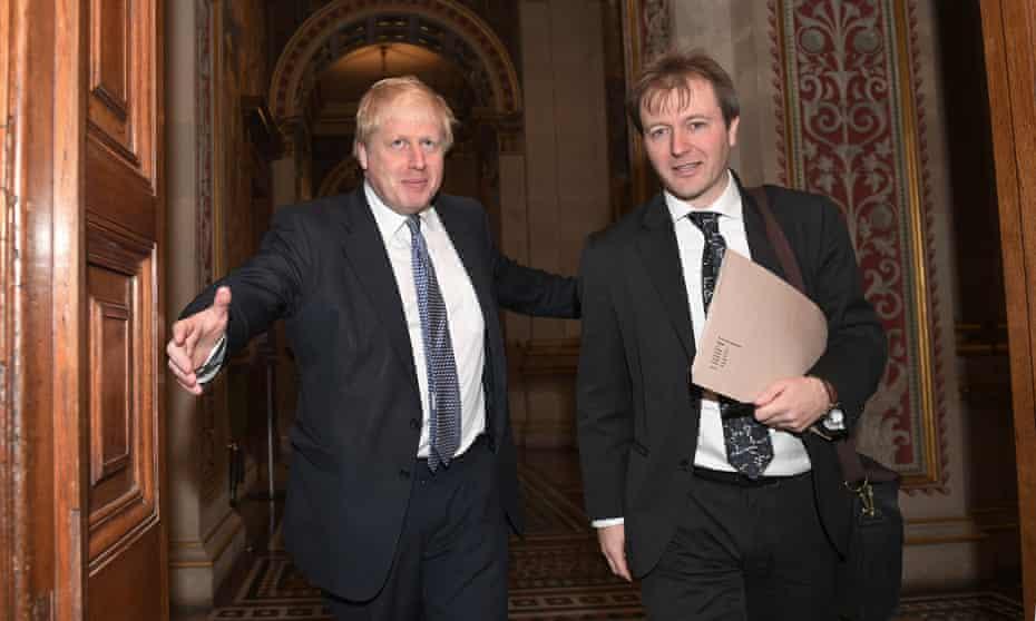 Ratcliffe meeting Boris Johnson, then foreign secretary, in London in November 2017.