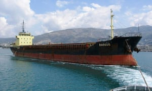 The Rhosus ship is seen at the port in Volos, Greece April 19, 2013