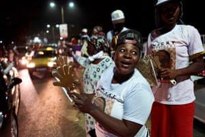 Dakar, Senegal Supporters of Macky Sall