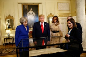 The Trumps are shown items with May in No 10