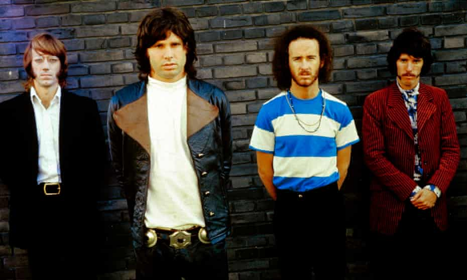 The Doors on tour in Germany, 1968.