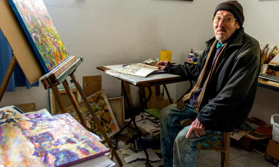 Christopher – or by this time Cristóbal – Hoare in his studio in Capileira, Spain, in 2019.
