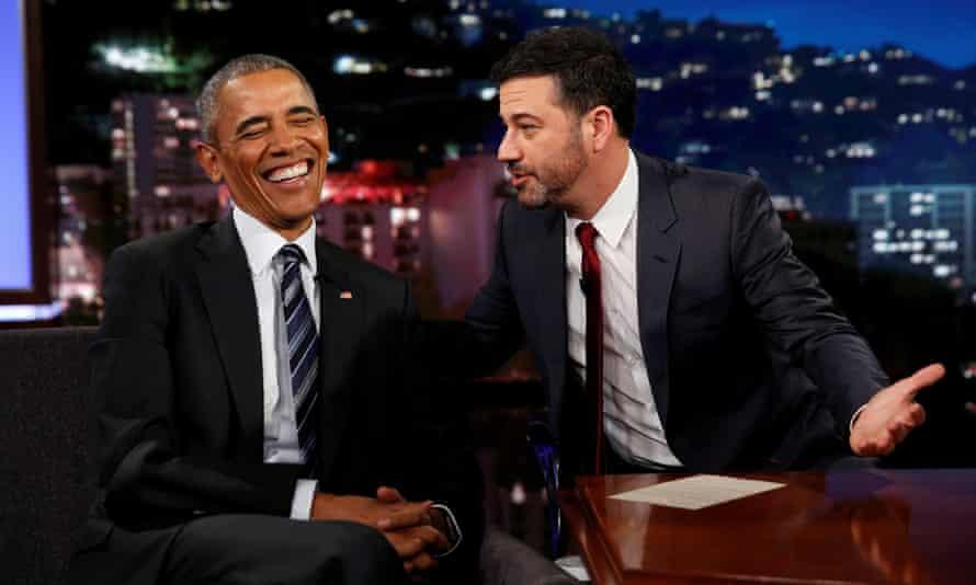 Obama on the Jimmy Kimmel Live! show.