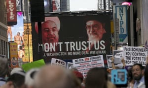 """""""Stop Iran rally"""" in New York's Times Square"""