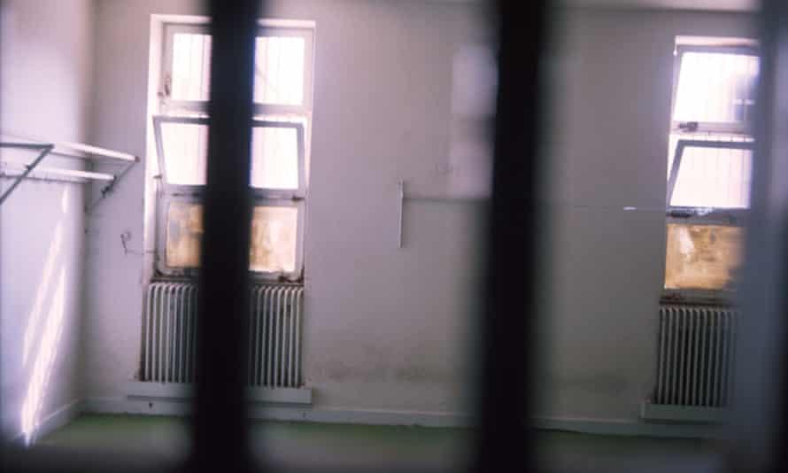 An empty cell inside Evin prison in Tehran.