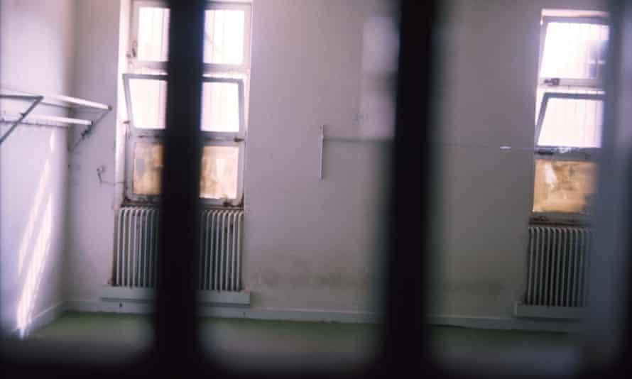An empty cell inside Evin prison in Tehran