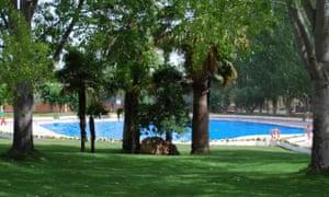 Pool at Camping La Rafa, south-east Spain.