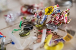 The total amount of landfill waste Kellogg has generated in the past year is mainly from food stickers, bottle tops and food bag ties