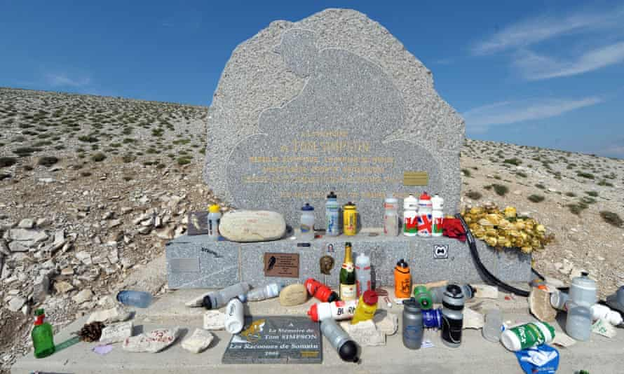 The Tom Simpson memorial on Mont Ventoux