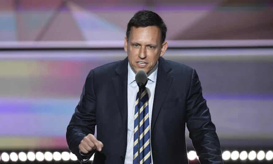 Peter Thiel speaking at the Republican National Convention earlier this year.