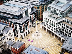 Paternoster Square, London, taken from the top of St Paul's Cathedral.