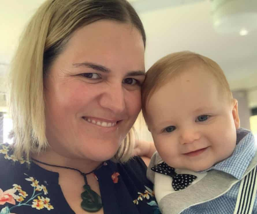 Julie Cooper, with her son Kohan, 7 months.