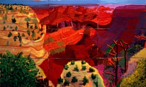 9 Canvas Study of the Grand Canyon, 1998 by David Hockney.