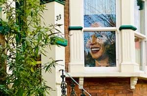 Alison Meek's portrait of Kamala Harris.