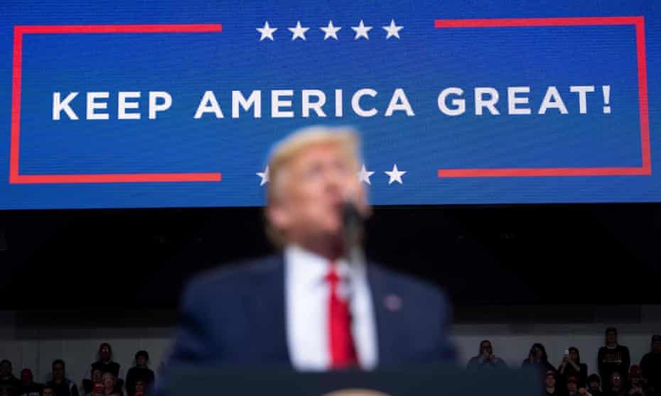 Donald Trump speaks in Des Moines, Iowa.